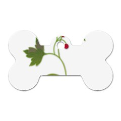 Element Tag Green Nature Dog Tag Bone (two Sides) by Nexatart