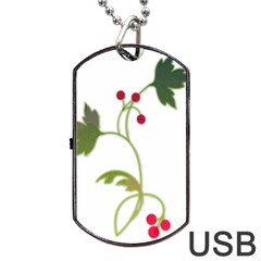 Element Tag Green Nature Dog Tag Usb Flash (one Side) by Nexatart
