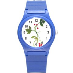 Element Tag Green Nature Round Plastic Sport Watch (s) by Nexatart