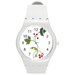 Element Tag Green Nature Round Plastic Sport Watch (m) by Nexatart