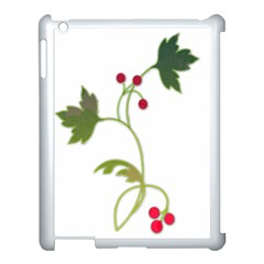 Element Tag Green Nature Apple Ipad 3/4 Case (white) by Nexatart