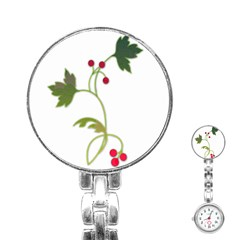 Element Tag Green Nature Stainless Steel Nurses Watch by Nexatart