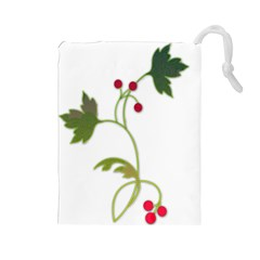 Element Tag Green Nature Drawstring Pouches (large)  by Nexatart