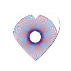 Spirograph Pattern Drawing Design Heart Magnet by Nexatart