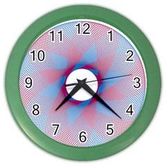 Spirograph Pattern Drawing Design Color Wall Clocks by Nexatart