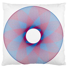 Spirograph Pattern Drawing Design Standard Flano Cushion Case (two Sides) by Nexatart