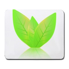 Leaves Green Nature Reflection Large Mousepads by Nexatart