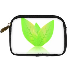Leaves Green Nature Reflection Digital Camera Cases by Nexatart