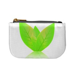 Leaves Green Nature Reflection Mini Coin Purses by Nexatart