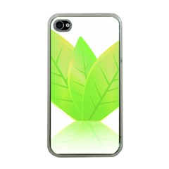 Leaves Green Nature Reflection Apple Iphone 4 Case (clear) by Nexatart