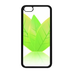 Leaves Green Nature Reflection Apple Iphone 5c Seamless Case (black) by Nexatart