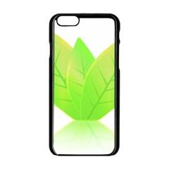 Leaves Green Nature Reflection Apple Iphone 6/6s Black Enamel Case by Nexatart