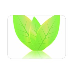Leaves Green Nature Reflection Double Sided Flano Blanket (mini)  by Nexatart