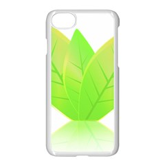 Leaves Green Nature Reflection Apple Iphone 7 Seamless Case (white) by Nexatart