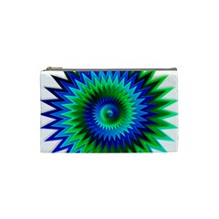 Star 3d Gradient Blue Green Cosmetic Bag (small)  by Nexatart