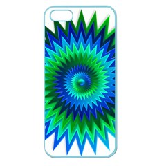 Star 3d Gradient Blue Green Apple Seamless Iphone 5 Case (color) by Nexatart