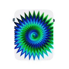 Star 3d Gradient Blue Green Apple Ipad 2/3/4 Protective Soft Cases by Nexatart