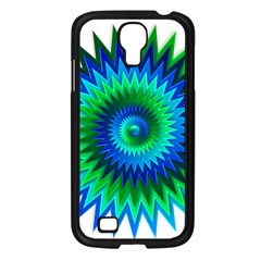 Star 3d Gradient Blue Green Samsung Galaxy S4 I9500/ I9505 Case (black) by Nexatart