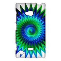 Star 3d Gradient Blue Green Nokia Lumia 720 by Nexatart