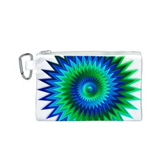 Star 3d Gradient Blue Green Canvas Cosmetic Bag (s) by Nexatart