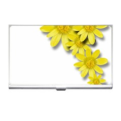 Flowers Spring Yellow Spring Onion Business Card Holders by Nexatart