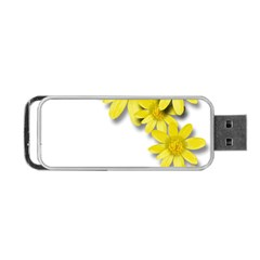 Flowers Spring Yellow Spring Onion Portable Usb Flash (two Sides) by Nexatart