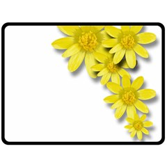Flowers Spring Yellow Spring Onion Double Sided Fleece Blanket (large)  by Nexatart