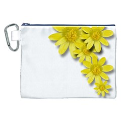 Flowers Spring Yellow Spring Onion Canvas Cosmetic Bag (xxl) by Nexatart