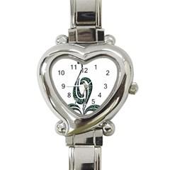 Scroll Retro Design Texture Heart Italian Charm Watch by Nexatart