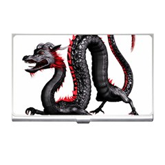 Dragon Black Red China Asian 3d Business Card Holders by Nexatart