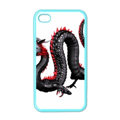 Dragon Black Red China Asian 3d Apple Iphone 4 Case (color) by Nexatart