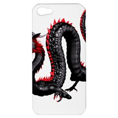 Dragon Black Red China Asian 3d Apple Iphone 5 Hardshell Case by Nexatart