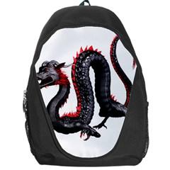 Dragon Black Red China Asian 3d Backpack Bag by Nexatart