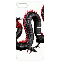 Dragon Black Red China Asian 3d Apple Iphone 5 Hardshell Case With Stand by Nexatart