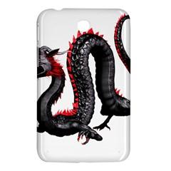 Dragon Black Red China Asian 3d Samsung Galaxy Tab 3 (7 ) P3200 Hardshell Case  by Nexatart