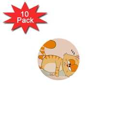 Even Cat Hates Monday 1  Mini Buttons (10 Pack)  by Catifornia