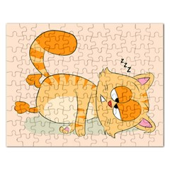 Even Cat Hates Monday Rectangular Jigsaw Puzzl by Catifornia