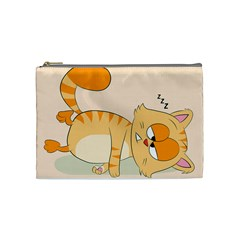 Even Cat Hates Monday Cosmetic Bag (medium)  by Catifornia