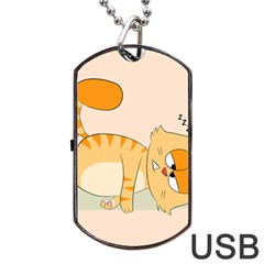 Even Cat Hates Monday Dog Tag Usb Flash (one Side) by Catifornia