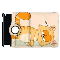 Even Cat Hates Monday Apple Ipad 2 Flip 360 Case by Catifornia