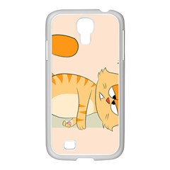 Even Cat Hates Monday Samsung Galaxy S4 I9500/ I9505 Case (white) by Catifornia