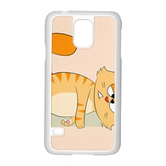 Even Cat Hates Monday Samsung Galaxy S5 Case (white) by Catifornia