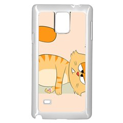 Even Cat Hates Monday Samsung Galaxy Note 4 Case (white) by Catifornia