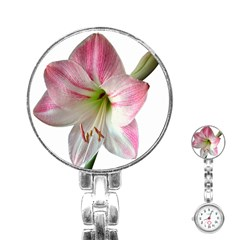 Flower Blossom Bloom Amaryllis Stainless Steel Nurses Watch by Nexatart