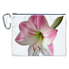 Flower Blossom Bloom Amaryllis Canvas Cosmetic Bag (xxl) by Nexatart