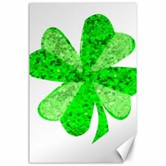 St Patricks Day Shamrock Green Canvas 24  X 36  by Nexatart