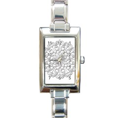 Scrapbook Side Lace Tag Element Rectangle Italian Charm Watch by Nexatart