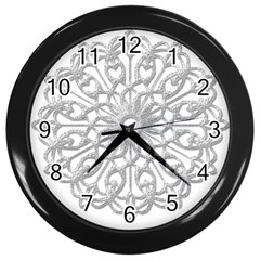 Scrapbook Side Lace Tag Element Wall Clocks (black) by Nexatart