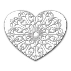 Scrapbook Side Lace Tag Element Heart Mousepads by Nexatart