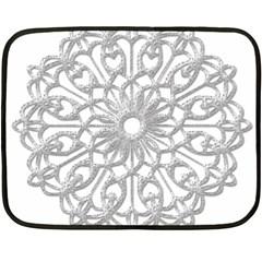 Scrapbook Side Lace Tag Element Fleece Blanket (mini) by Nexatart